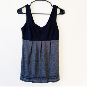 Lululemon Elevate Tank Sleeveless Black Grey